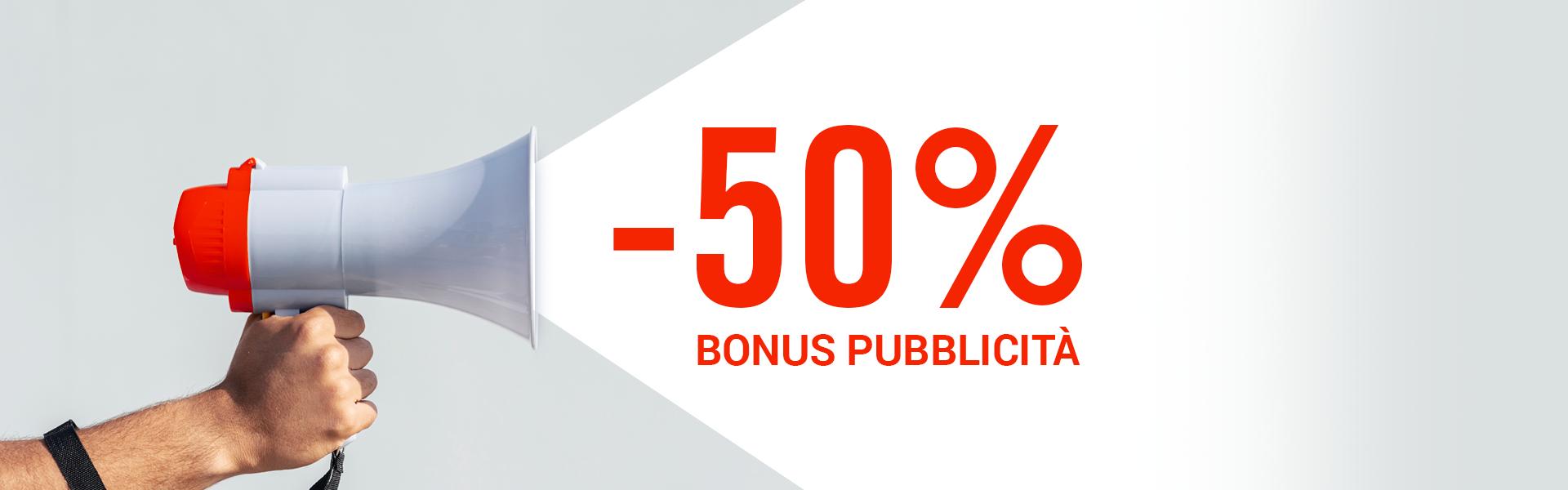 -50% bonus pubblicità
