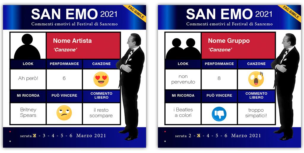 scheda commenti Sanremo