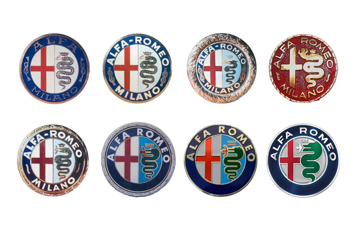 L'evoluzione del logo della Alfa Romeo